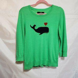 C Wonder Knit Top Size Medium Navy Whale Graphic